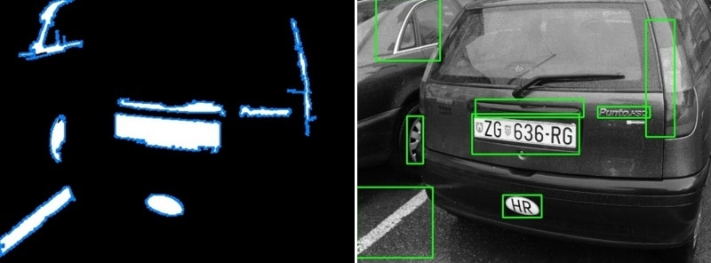 license plate recognition - an example of using the method