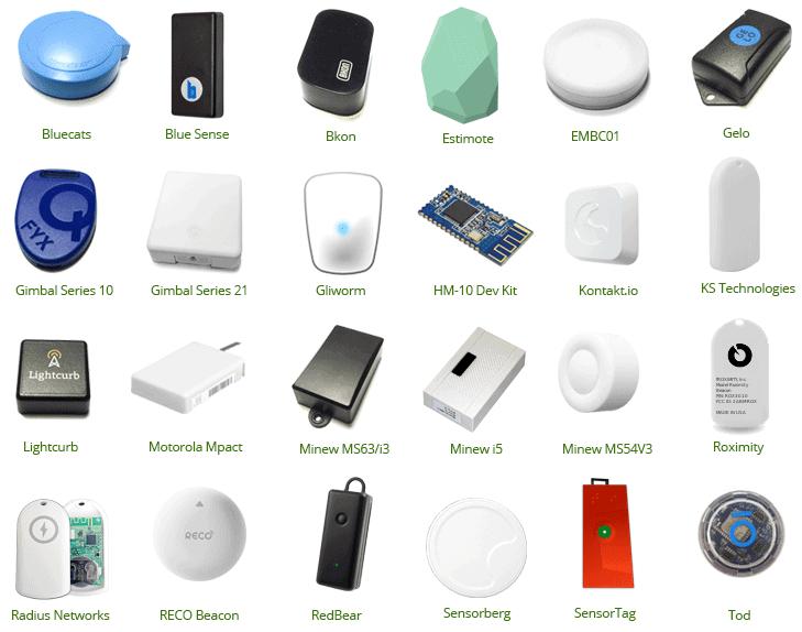 BLE Beacon devices